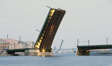 Reconstruction of the Liteiny bridge across the Neva River in St Petersburg