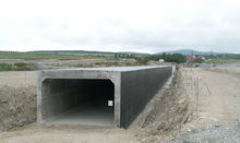 The culvert under the landing strip of the airport in Gelendzhik City