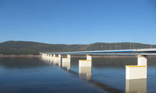 The bridge across the Angara River