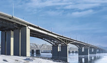 The 4th bridge across the Yenisei River in Krasnoyarsk City