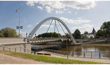 The Vabaduse Bridge in Tartu City, Estonia